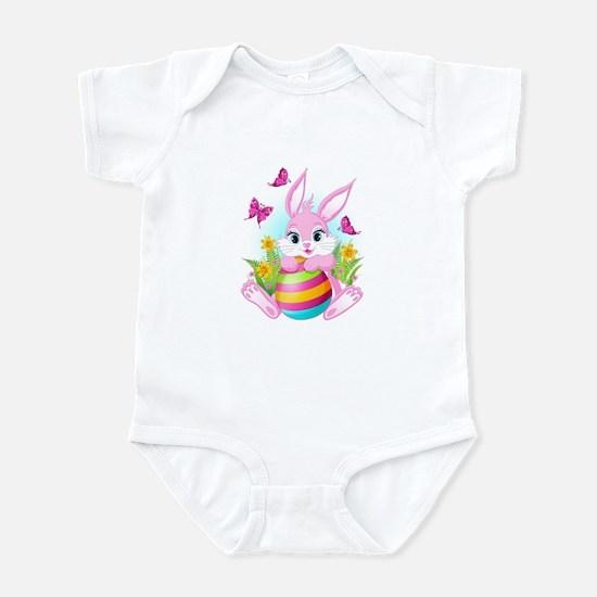 Pink Easter Bunny Infant Bodysuit