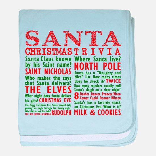 Santa Christmas Trivia baby blanket