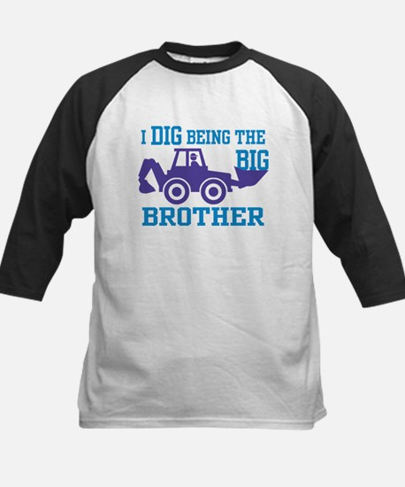 I Dig Being a Big Brother Kids Baseball Jersey