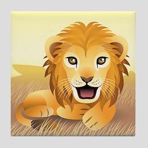 Little Lion Tile Coaster