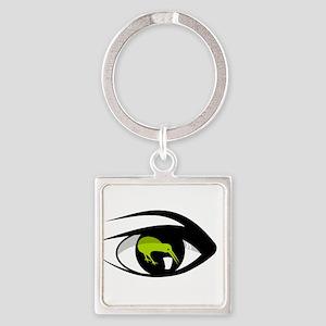 Green eye kiwi watch Keychains