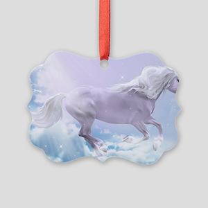 White Magic Mare Picture Ornament