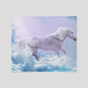 White Magic Mare Throw Blanket
