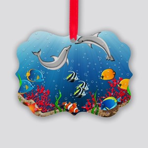 Tropical Underwater World Picture Ornament