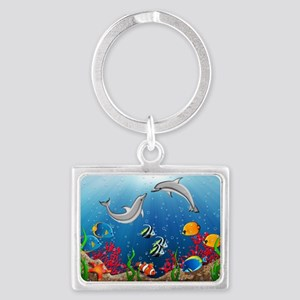 Tropical Underwater World Landscape Keychain