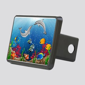 Tropical Underwater World Rectangular Hitch Cover