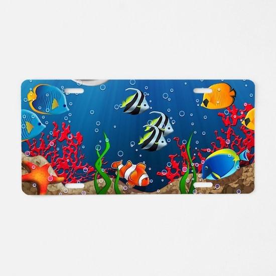 Tropical Underwater World Aluminum License Plate