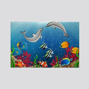 Tropical Underwater World Rectangle Magnet