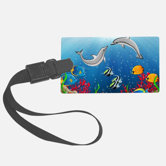 Tropical Underwater World Luggage Tag