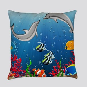 Tropical Underwater World Everyday Pillow