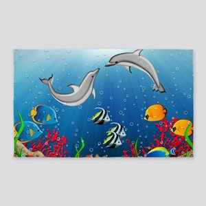 Tropical Underwater World Area Rug