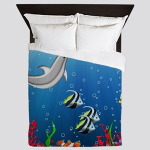 Tropical Underwater World Queen Duvet