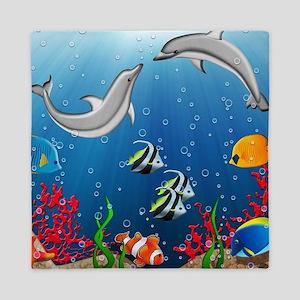 Tropical Underwater World Queen Duvet