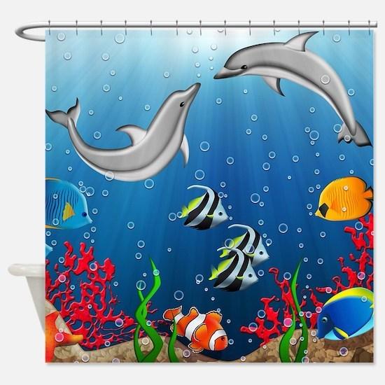 Tropical Underwater World Shower Curtain