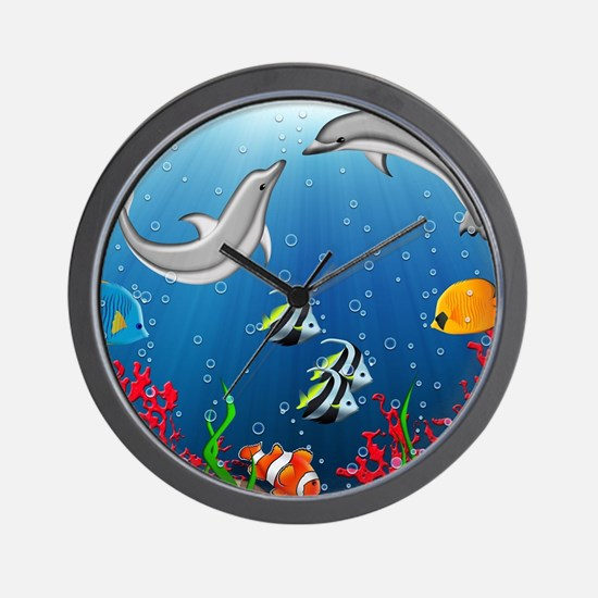 Tropical Underwater World Wall Clock