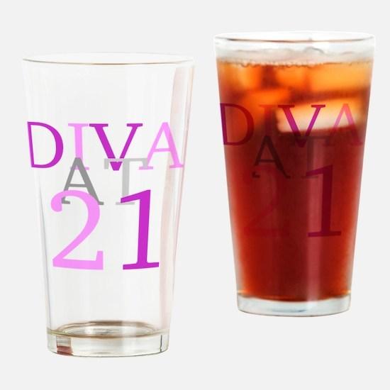 Cute Birthday diva Drinking Glass