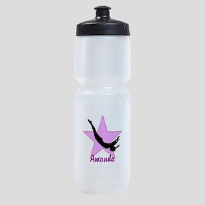 Pink Trampoline Star Sports Bottle