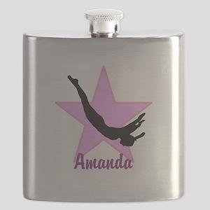 Pink Trampoline Star Flask
