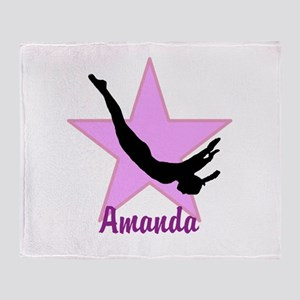 Pink Trampoline Star Throw Blanket