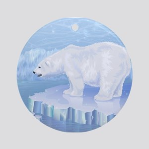 Polar Bear Round Ornament