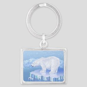 Polar Bear Landscape Keychain