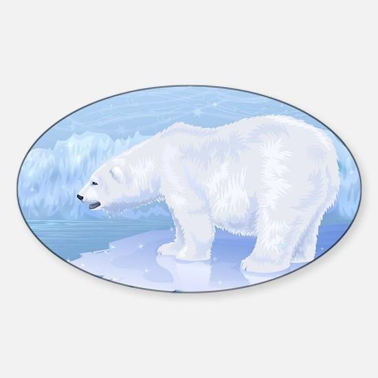 Polar Bear Sticker (Oval)