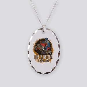 ATV Offroad Life is Better In Necklace Oval Charm