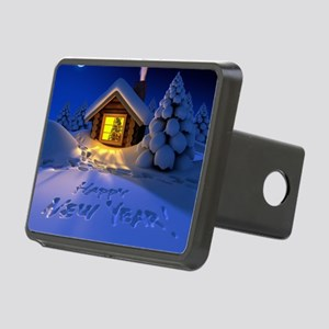 Happy New Year Rectangular Hitch Cover