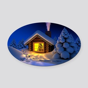 Happy New Year Oval Car Magnet
