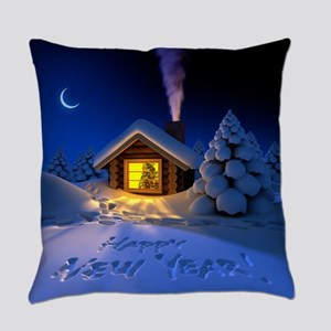 Happy New Year Everyday Pillow