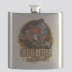 ATV Offroad Life is Better In the Mud Flask