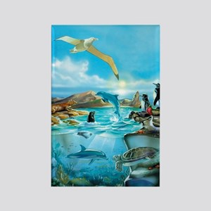 Galapagos Animals Rectangle Magnet