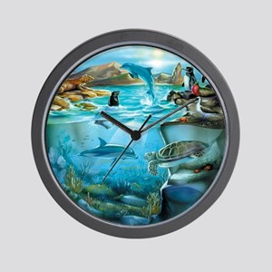 Galapagos Animals Wall Clock