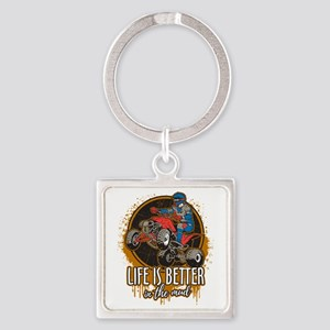ATV Offroad Life is Better In the Square Keychain