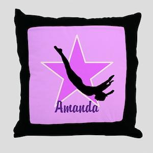 Trampoline Star gymnast Throw Pillow