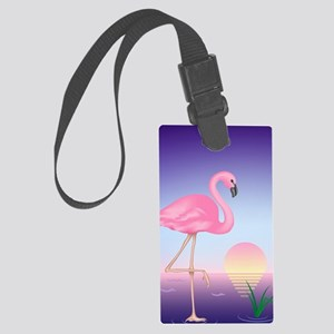 Pink Flamingo Large Luggage Tag