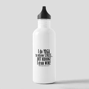 YOGA- JUST KIDDING - WINE Water Bottle