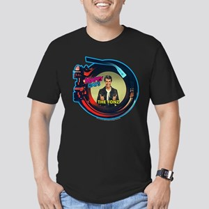 Happy Days Jukebox Fon Men's Fitted T-Shirt (dark)