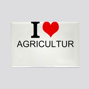 I Love Agriculture Magnets