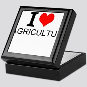 I Love Agriculture Keepsake Box