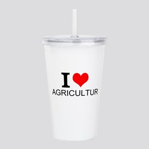 I Love Agriculture Acrylic Double-wall Tumbler