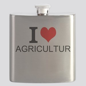 I Love Agriculture Flask