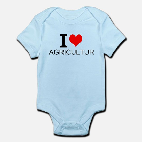I Love Agriculture Body Suit