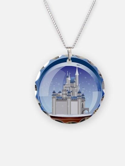 Castle Snow Globe Necklace