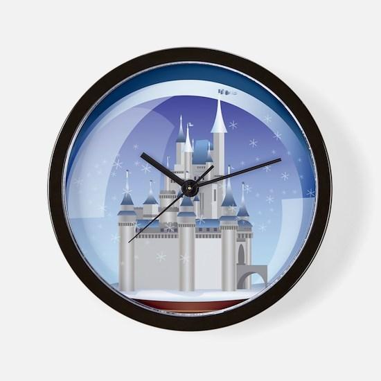 Castle Snow Globe Wall Clock
