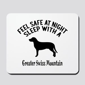 Feel Safe At Night Sleep With Greater Sw Mousepad