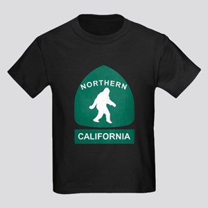 Northern California Bigfoot Sign (vintage look) T-