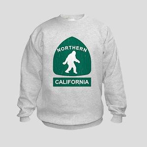 Northern California Bigfoot Sign (vintage look) Sw