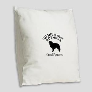 Feel Safe At Night Sleep With Burlap Throw Pillow
