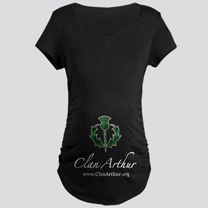 Clan Arthur Thistle Maternity Dark T-Shirt